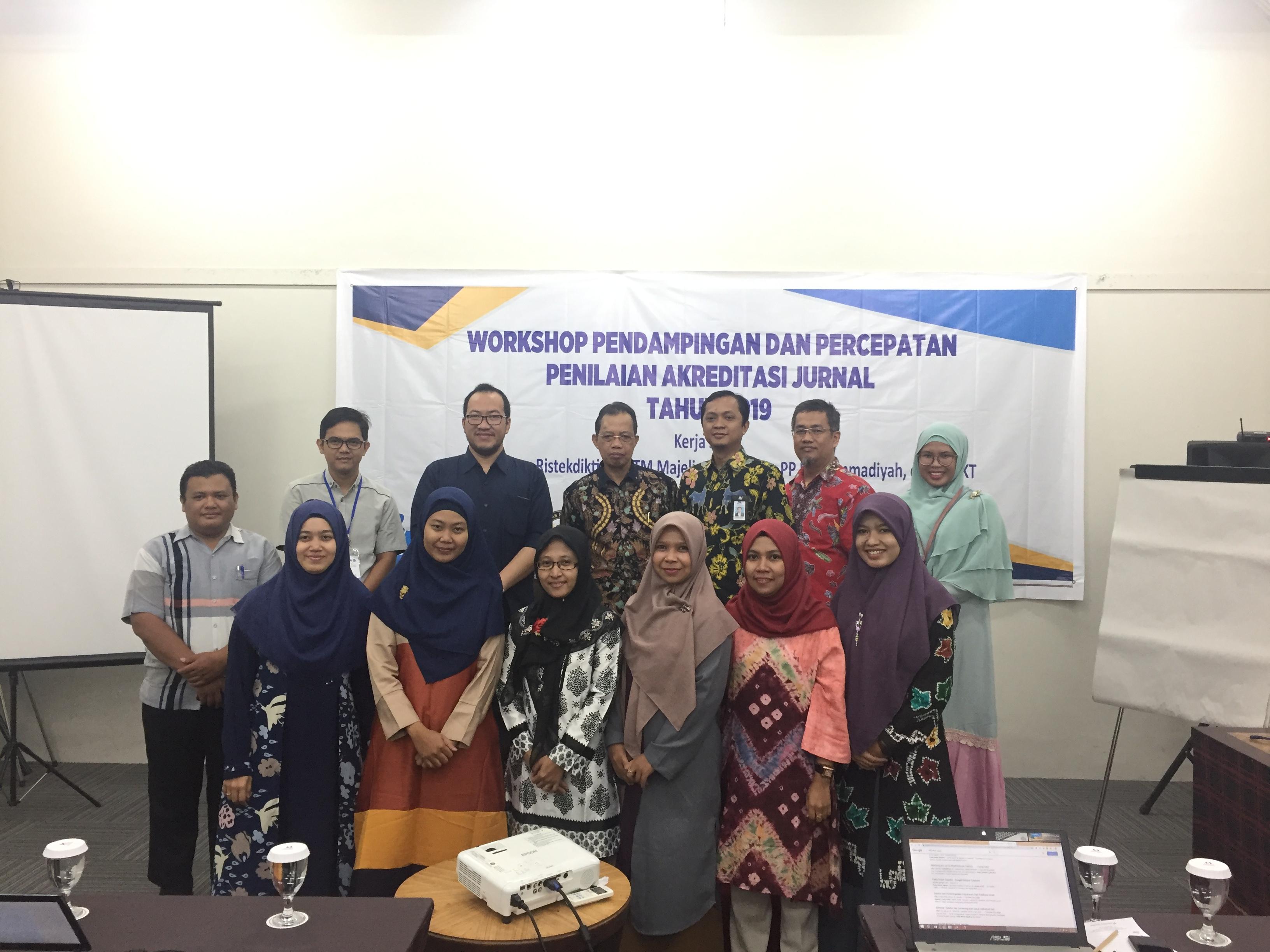 Workshop Pendampingan dan Percepatan Penilaian Akreditasi Jurnal Tahun 2019